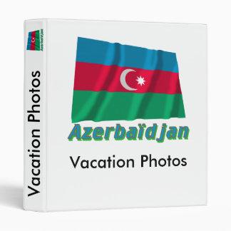 Drapeau Azerbaïdjan avec le nom en français Binder