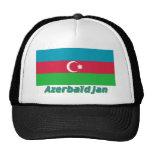 Drapeau Azerbaïdjan avec le nom en français Trucker Hats