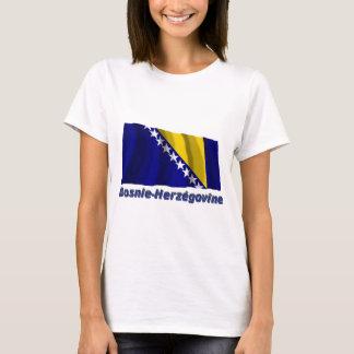 Drapeau Bosnie-Herzégovine avec le nom en français T-Shirt