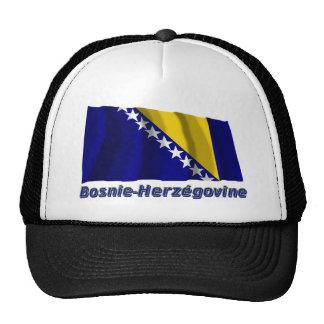 Drapeau Bosnie-Herzégovine avec le nom en français Trucker Hat