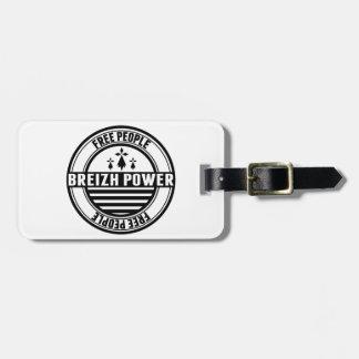 drapeau Breizh Bretagne Breton free people Étiquette Pour Bagages
