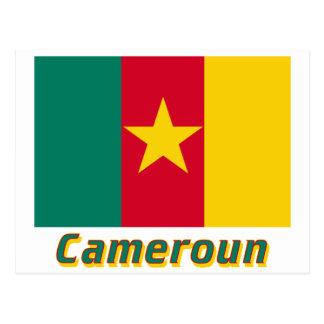 Drapeau Cameroun avec le nom en français Post Cards