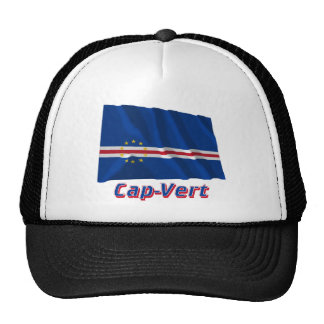 Drapeau Cap-Vert avec le nom en français Trucker Hat