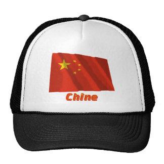 Drapeau Chine avec le nom en français Trucker Hat