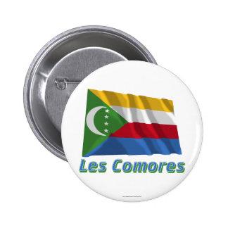 Drapeau Comores avec le nom en français Pin