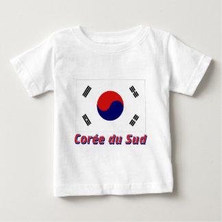Drapeau Corée du Sud avec le nom en français Baby T-Shirt