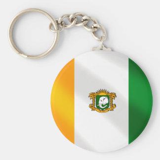 Drapeau de la Côte d'Ivoire 2010 gifts Basic Round Button Keychain