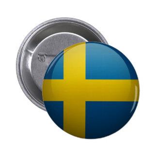 Drapeau de la Suède Badge Avec Agrafe