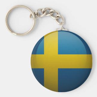 Drapeau de la Suède Porte-clefs