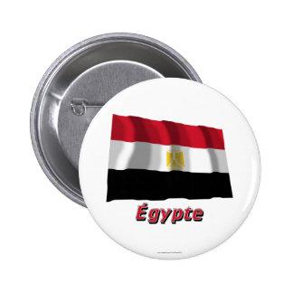 Drapeau Égypte avec le nom en français Pin
