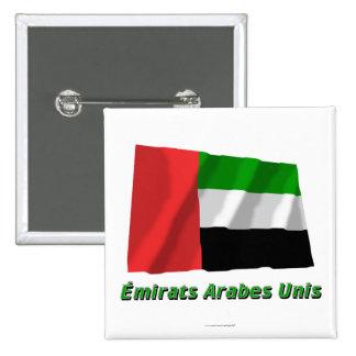 Drapeau Émirats arabes unis avec nom en français Button