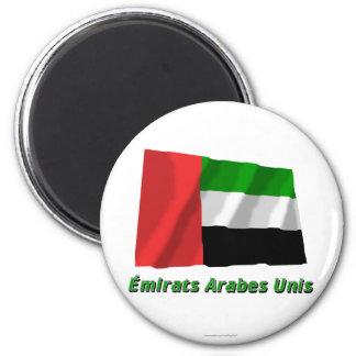 Drapeau Émirats arabes unis avec nom en français Magnets