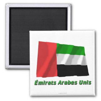 Drapeau Émirats arabes unis avec nom en français Refrigerator Magnets