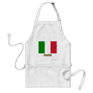 Drapeau Italie avec le nom en français Adult Apron