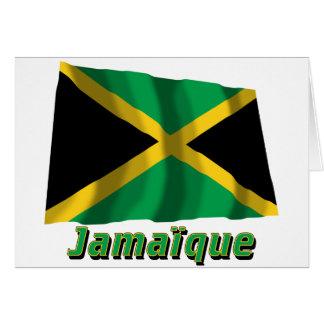 Drapeau Jamaïque avec le nom en français Greeting Cards