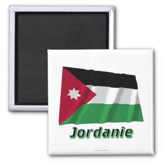 Drapeau Jordanie avec le nom en français 2 Inch Square Magnet