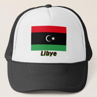 Drapeau Libye avec Nom Trucker Hat