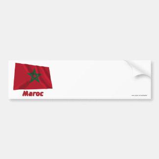 Drapeau Maroc avec le nom en français Car Bumper Sticker