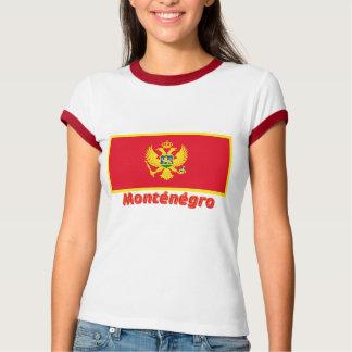 Drapeau Monténégro avec le nom en français Tee Shirt