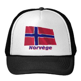Drapeau Norvège avec le nom en français Trucker Hat