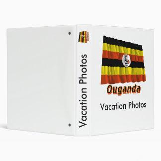 Drapeau Ouganda avec le nom en français 3 Ring Binders