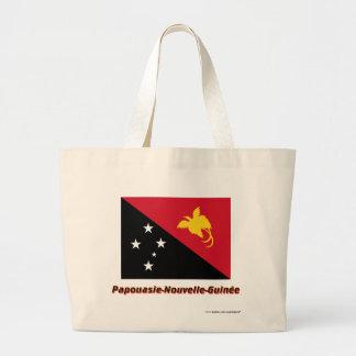 Drapeau Papouasie-Nouvelle-Guinée nom en français Large Tote Bag