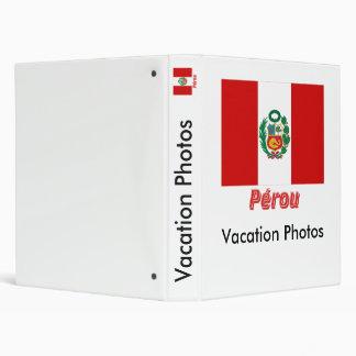 Drapeau Pérou avec le nom en français Binders