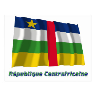 Drapeau République centrafricaine nom en français Postcard