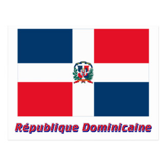 Drapeau République dominicaine nom en français Postcard