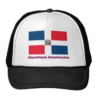 Drapeau République dominicaine nom en français Trucker Hat