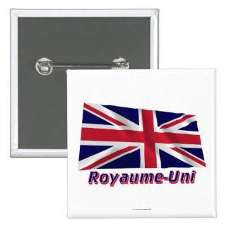 Drapeau Royaume-Uni avec le nom en français Button