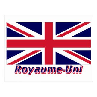 Drapeau Royaume-Uni avec le nom en français Postcard