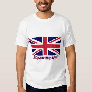 Drapeau Royaume-Uni avec le nom en français T Shirt