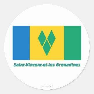Drapeau Saint-Vincent-et-les Grenadines français Sticker