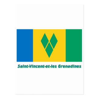 Drapeau Santo-Vincent-y-les granadinas, français Postal