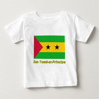 Drapeau Sao Tomé-et-Principe avec nom en français Baby T-Shirt