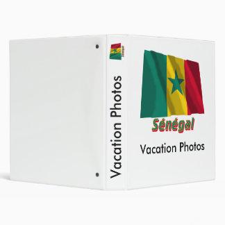 Drapeau Sénégal avec le nom en français 3 Ring Binder
