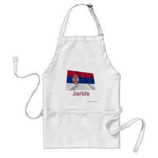 Drapeau Serbie avec le nom en français Aprons