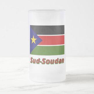 Drapeau Sud-Soudan Frosted Glass Beer Mug