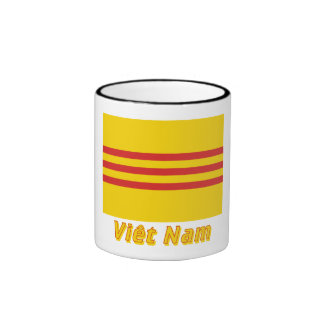Drapeau Sud-Viêt Nam avec le nom en français Mugs
