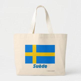 Drapeau Suède avec le nom en français Bag