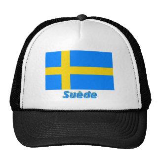 Drapeau Suède avec le nom en français Mesh Hat