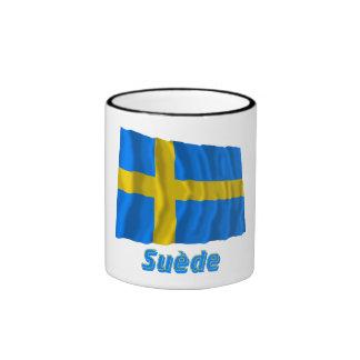 Drapeau Suède avec le nom en français Coffee Mugs