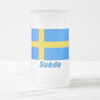 Drapeau Suède avec le nom en français Mugs