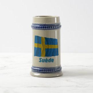 Drapeau Suède avec le nom en français Coffee Mug