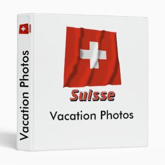 Drapeau Suisse avec le nom en français Vinyl Binder