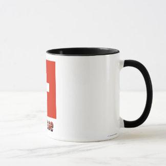 Drapeau Suisse avec le nom en français Mug