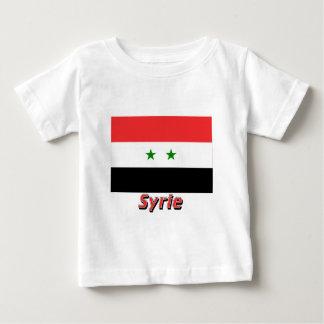 Drapeau Syrie avec le nom en français Baby T-Shirt