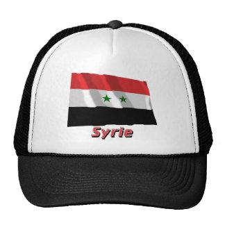Drapeau Syrie avec le nom en français Trucker Hat