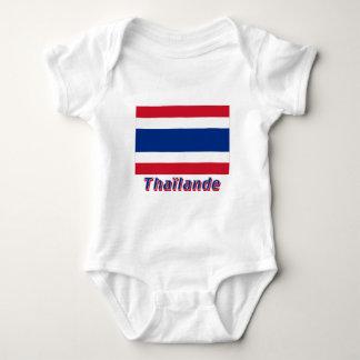 Drapeau Thaïlande avec le nom en français Baby Bodysuit